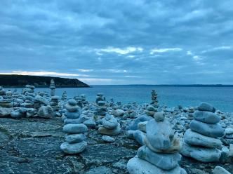 Stone cairns in Camaret - destroyed three hours later!