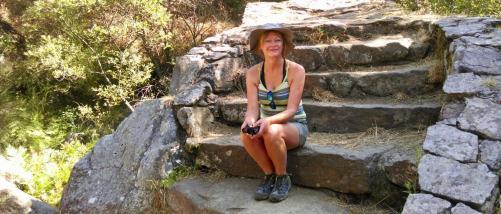 On hiking safari in Pobra de Caraminal