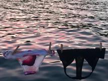 Pink bikini drying time