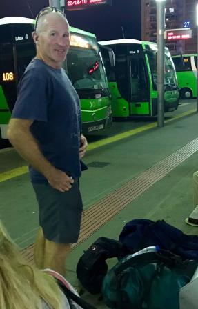 All aboard the Tenerife 'titsa' night bus
