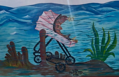 Baby fish ... part of local sea protection art exhibition