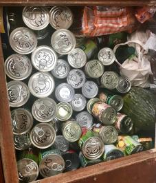 Three deep tin locker ... mush is mushy peas!