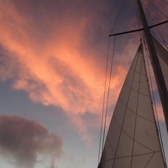 Pink sky at night - Sailors Delight