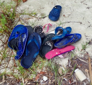 FREE crock and flip flop jumble sale